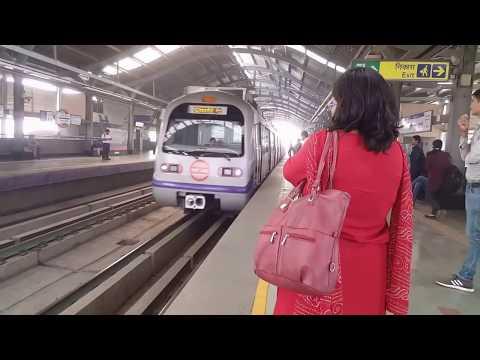 Delhi Metro Train - Complete Ride