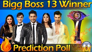 Bigg Boss 13 Winner Chance | Bigg Boss 13 Latest Winner Prediction Poll | Bigg Boss 13 Winner Name