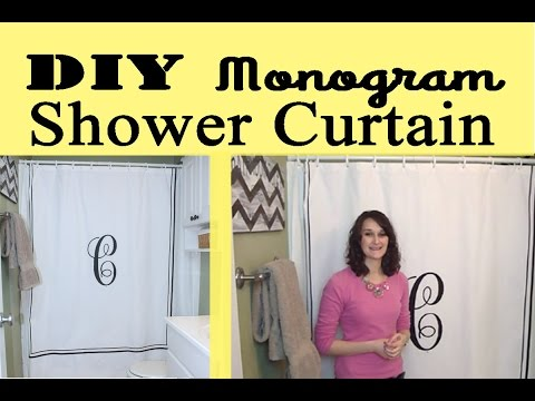 Monogram Shower Curtain | #18