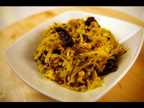 CABBAGE WITH ROASTED CHANA DAL
