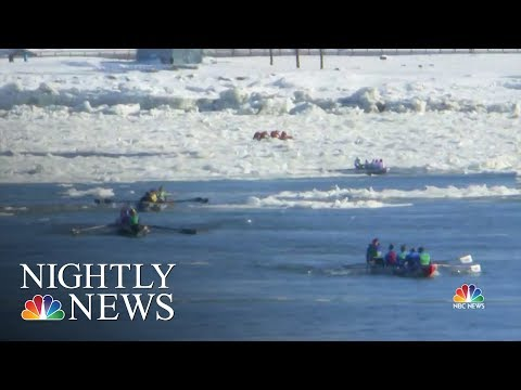 Inside The Wild World Of Ice Canoe Racing At The Quebec Winter Carnival | NBC Nightly News