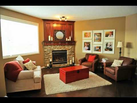 Living Room Furniture Layout with Corner Fireplace