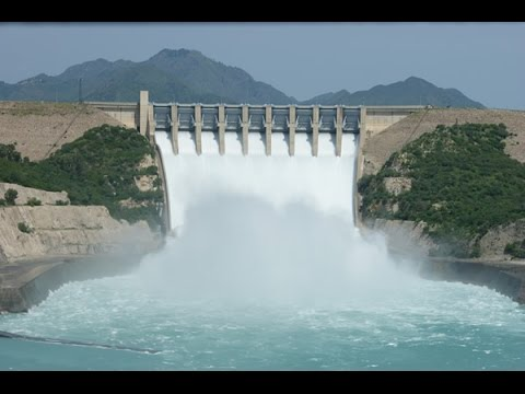 Natural Beauty Of Pakistan, Tarbela Dam Spillways on Indus River.