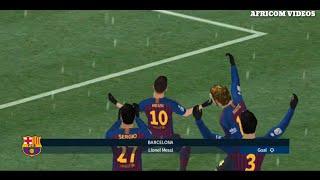 BARCELONA VS AC MILAN  DREAM LEAGUE SOCCER 2019  AFRICOM VIDEOS  GAMEPLAY