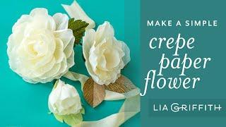 Simple Crepe Paper Flower