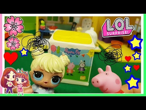 ALICE SDUPLICA UNA LOL SURPRISE...DI PEPPA!!! Unboxing e STORIA by Lara e Babou