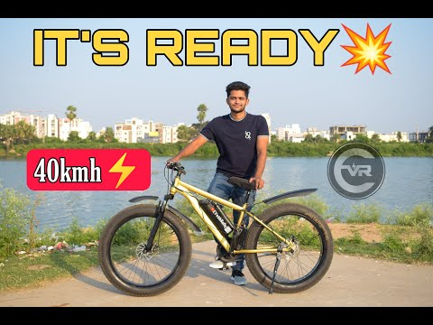 Gold Electric Fat Tire Bicycle | First Gold Cycle | Electric Cycle |  EvwithRafiq thumbnail
