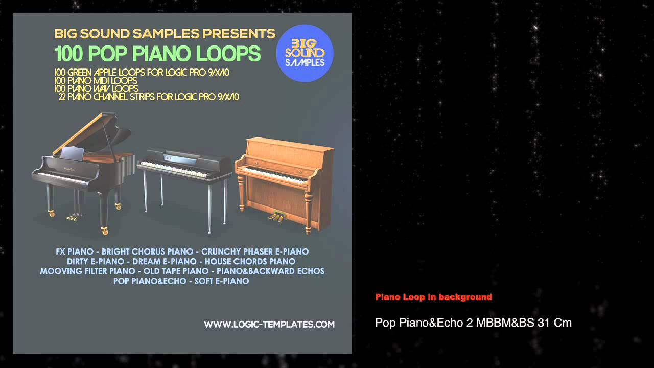 100 POP Piano Apple-Midi Loops