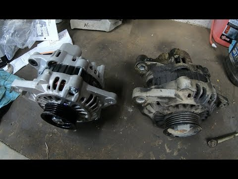 Mitsubishi alternator install and offroading