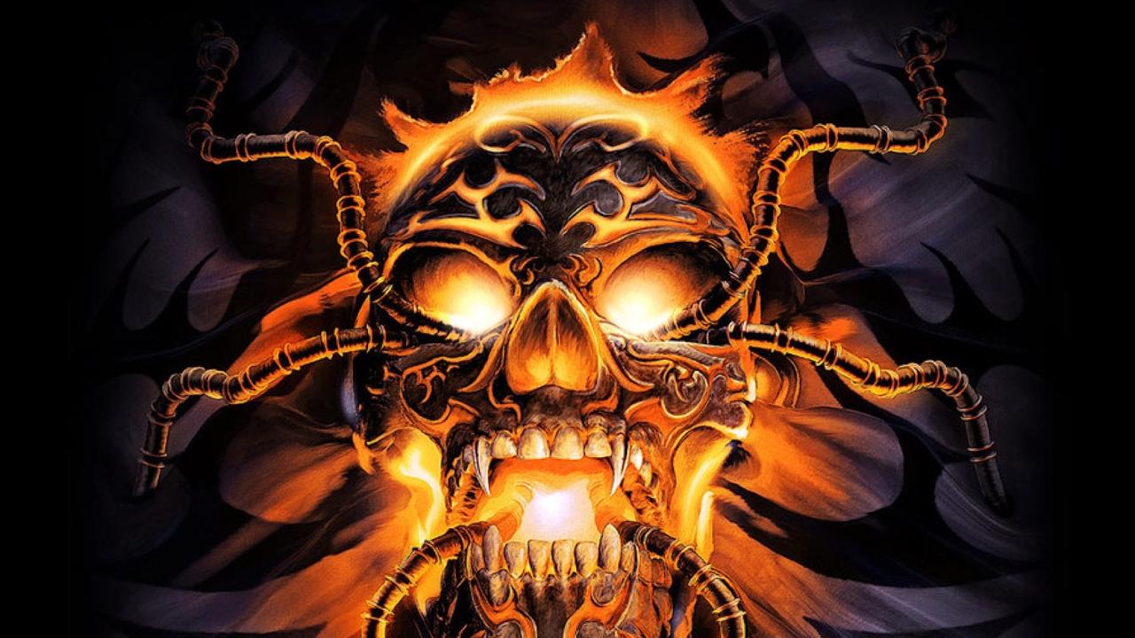 это картинки черепов в огне с костями инете есть