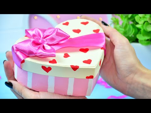 Красивая коробочка из картона своими руками