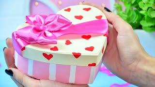 як зробити коробку вигляді серця з паперу