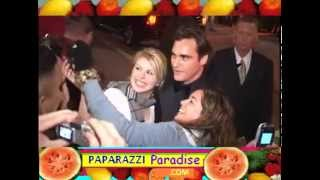 JOAQUIN PHOENIX and REESE WITHERSPOON meet fans following Oscar win