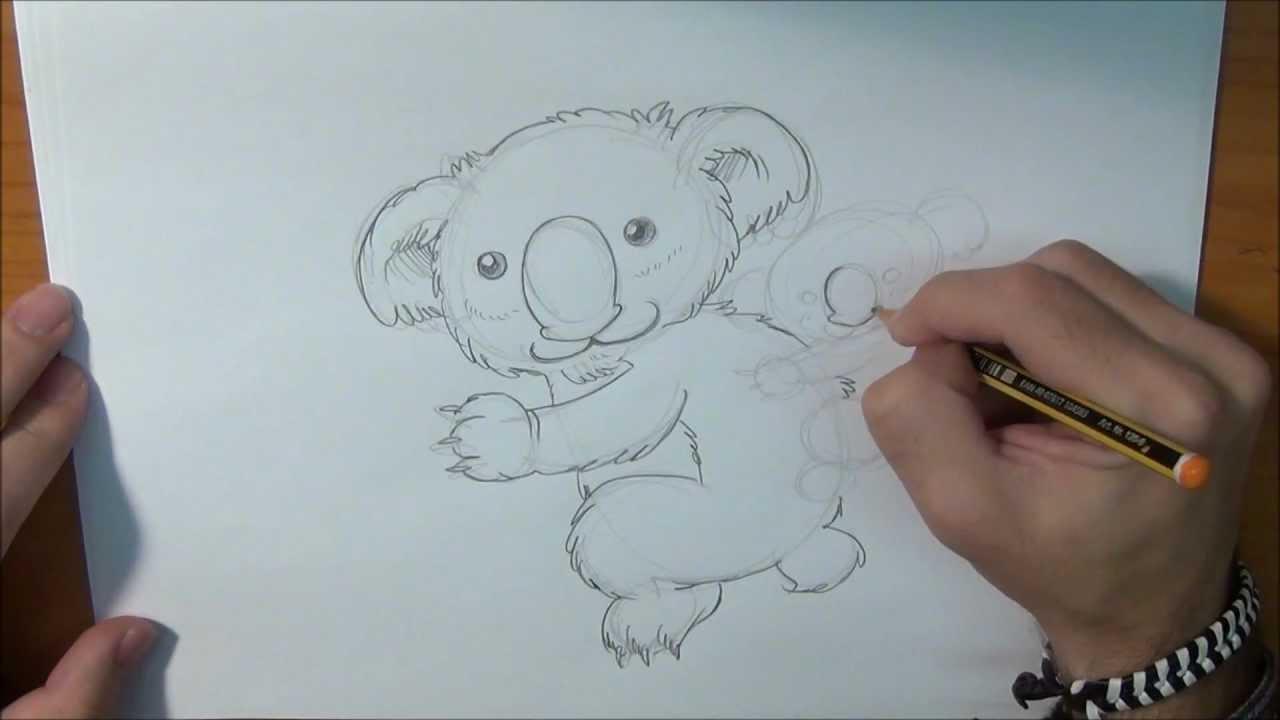 Aprende a dibujar un Koala  Draw Koala  YouTube
