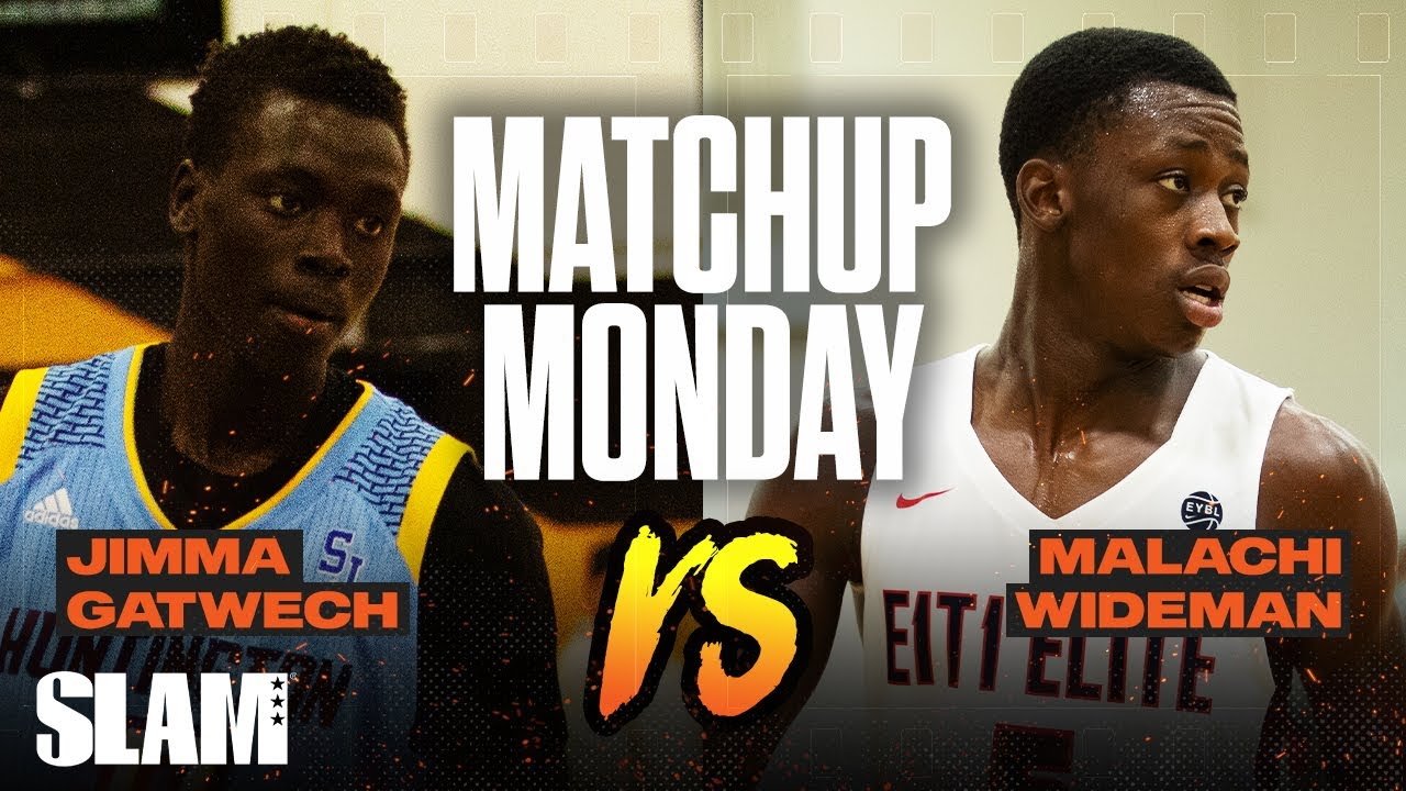 Jimma Gatwech vs Malachi Wideman: Who was the BEST DUNKER in High School!? SLAM Matchup Monday 🐰