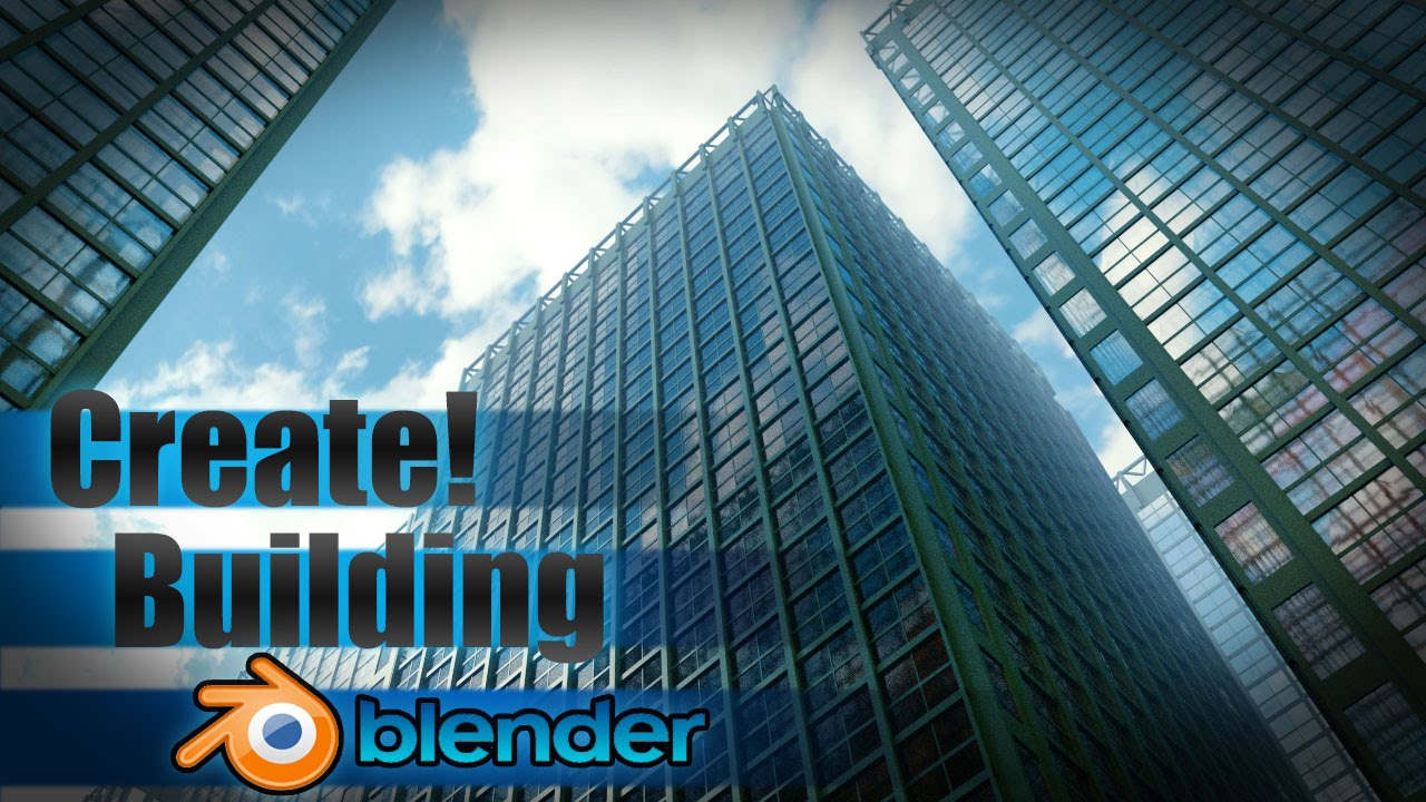 Create A Large City Building Blender Tutorial Youtube