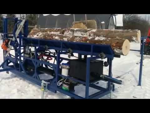 Homemade Firewood processor - First run