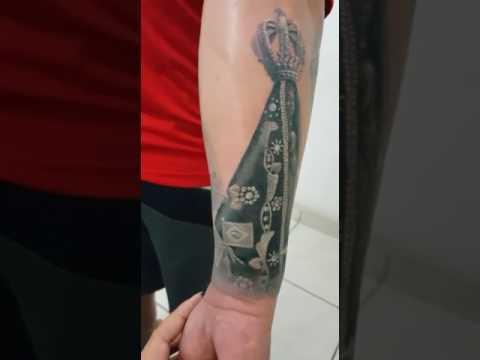 Tatuagem De Nossa Senhora Aparecida 3d Youtube