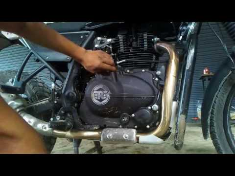 How To Change Engine Oil And Filter Royal Enfield Himalayan Youtube