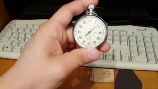 Советский механический секундомер