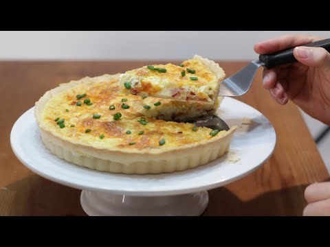 How To Make Quiche - Easy Bacon And Cheese Breakfast Quiche Recipe