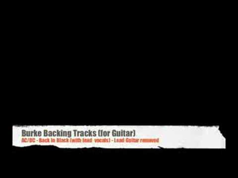***AC/DC Back in Black (with vocals) Guitar Backing Track***