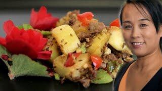 Cumin Pork & Potato (Asian, Chinese Pork & Cumin Stir-Fry)