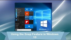 Windows 10: Using the Snap Feature - Resize Windows with Ease