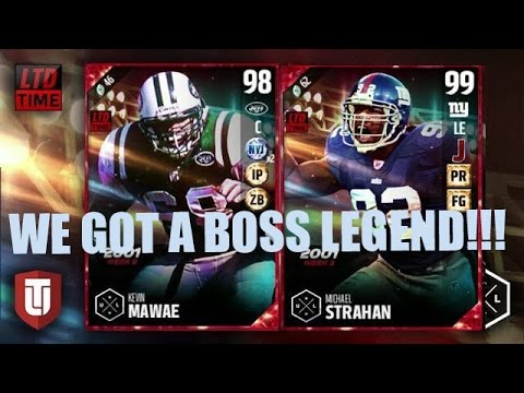 OMG WE GOT A BOSS ULTIMATE LEGEND! UL STRAHAN AND MAWAE! | MADDEN 17 ULTIMATE TEAM