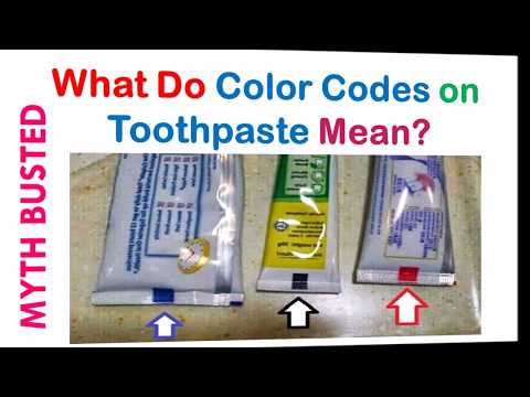 What Do Color Codes on Toothpaste Mean | Myth Busted