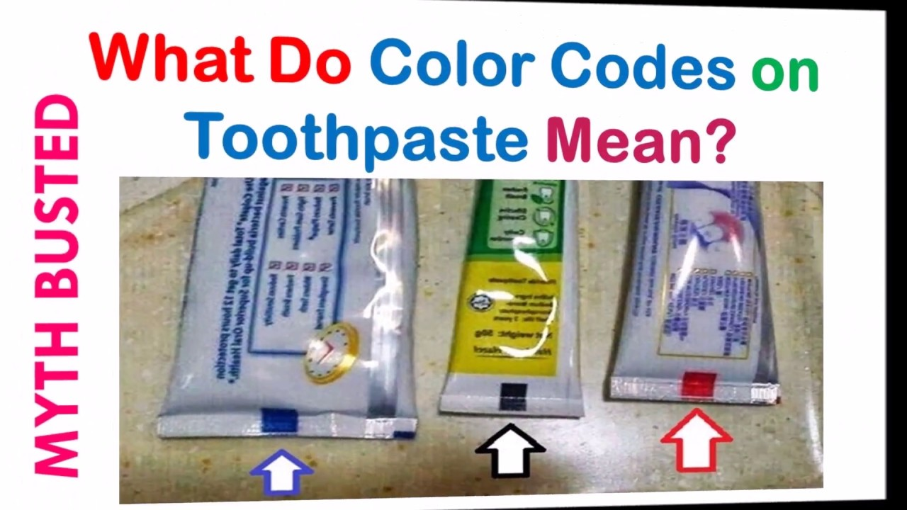 What Do Color Codes On Toothpaste Mean Myth Busted Youtube
