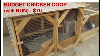 Great Budget Chicken Coop & Run ($70) - A+ Design & Ideas