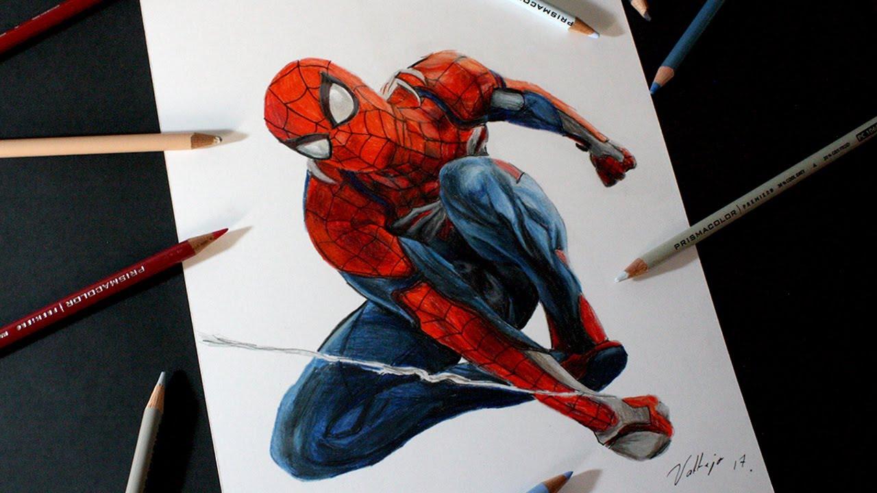Dibujos De Spiderman Para Pintar: Dibujo De Spider-Man (Playstation 4)