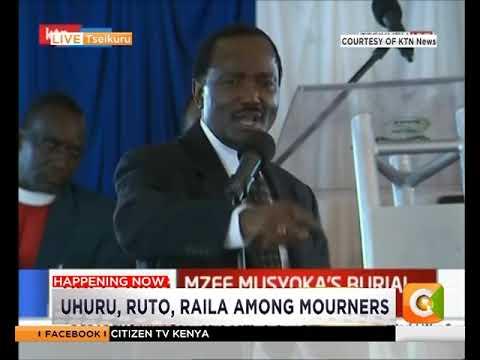 Kalonzo declares unwavering support for President Kenya