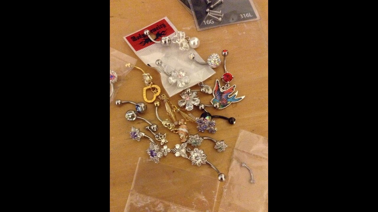 Cute Belly Button ring collection - YouTube
