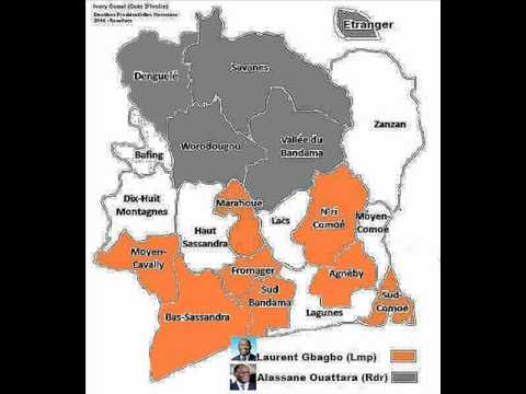 Ivory Coast presidential elections resultats 2010 /the hour-Gbagbo 68%