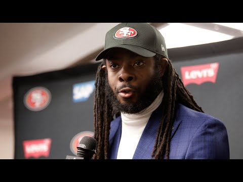 """Richard Sherman on the 49ers defense, """"The first half, they got us. But the second half, they got us too..."""