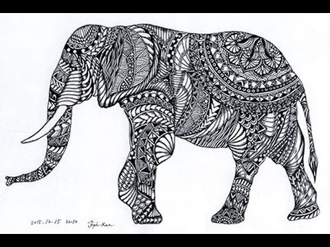 Cute Henna Wallpapers Zentangle 25 An Elephant Was Drawn In Zentangle Youtube