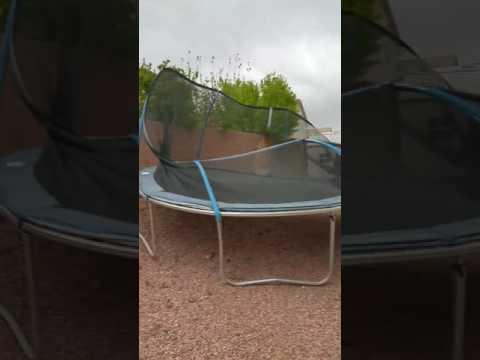 High Winds = Trampoline in My Backyard