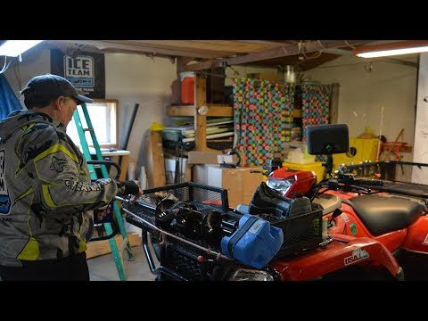 ATV Build Out With Clam Ice Pro  Barb Carey     Wi Women Fish