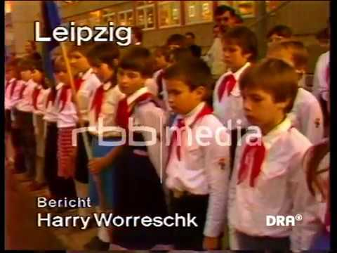 Flag Ceremony in Leipzig School 1984