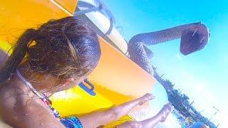 Carla Underwater - Scariest Water slide Ever