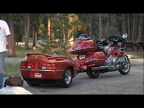 Honda Pacific Coast >> Goldwing Camping - YouTube