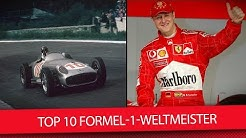 Top-10 Formel-1-Weltmeister: Von Schumacher bis Senna