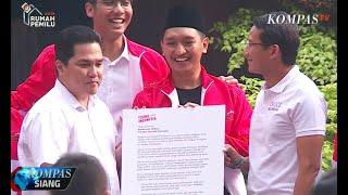 Momen Pertemuan Sandiaga Uno dan Erick Thohir