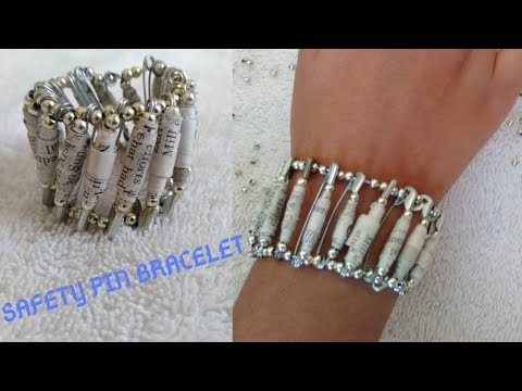 Safety Pin Beads Bracelet | DIY Paper beads and Bracelet | Safety Pin Bracelet