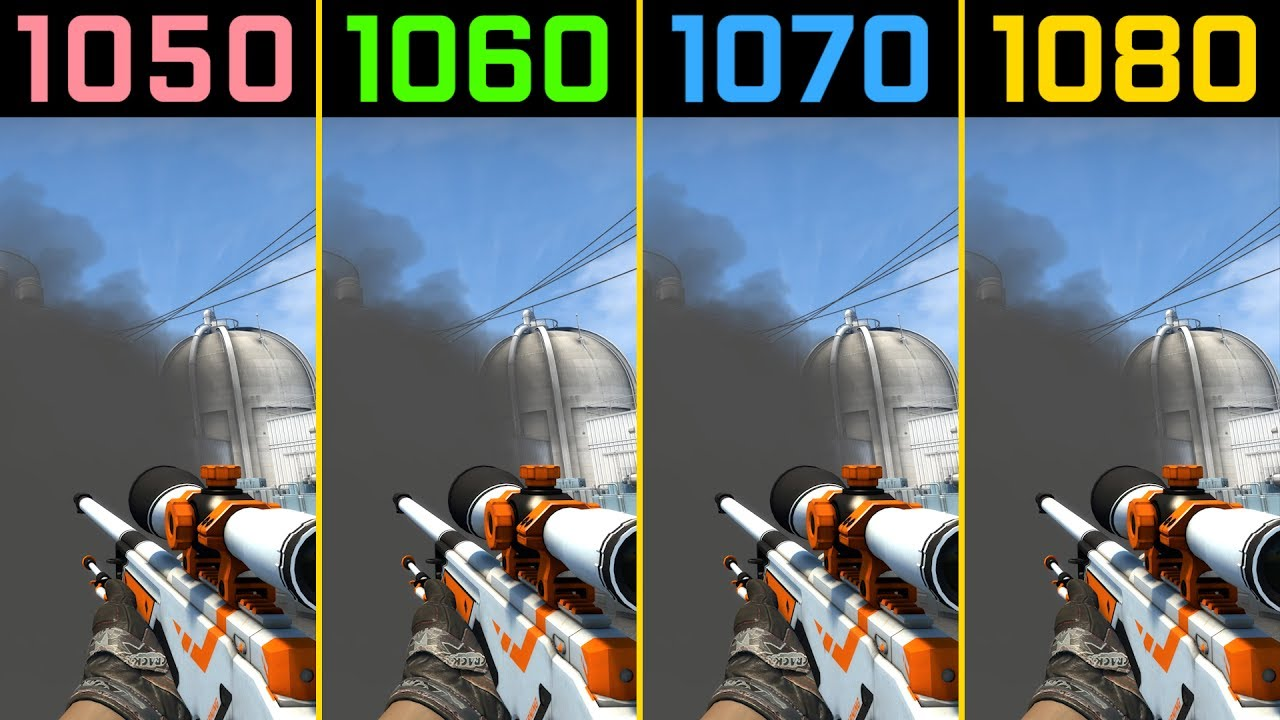 CS:GO GTX 1050 Ti vs GTX 1060 vs  GTX 1070 vs  GTX 1080 [4K]