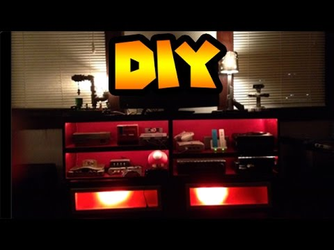 diy custom entertainment center to hold your video game consoles youtube. Black Bedroom Furniture Sets. Home Design Ideas