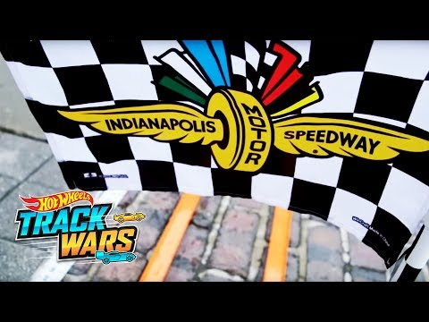 Cross the Indy Finish Line! | Indy 500 | Track Wars | Hot Wheels