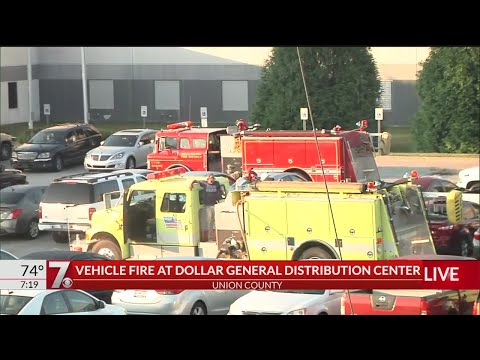 Vehicle Fire At Dollar General Distribution Center
